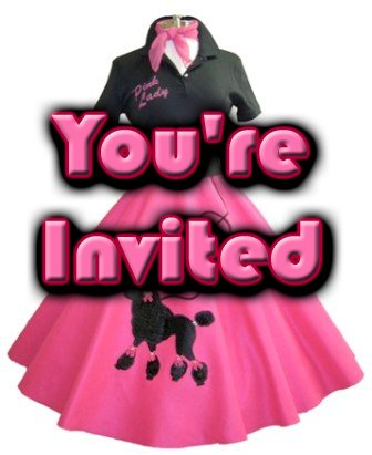 Free 50s Theme Party Invitations