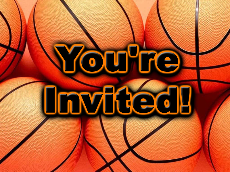 Free Basketball Theme Party Invitations – Basketball Party Invitations
