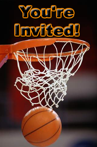 Free Basketball Theme Party Invitations