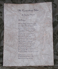 The Canterbury Tales - Antiqued First Page - Chaucer