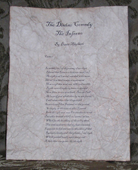 The Divine Comedy - Antiqued First Page