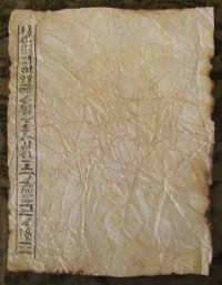 Antiqued Egyptian Themed Hieroglpyh Paper