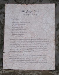 The Jungle Book - Antiqued First Page