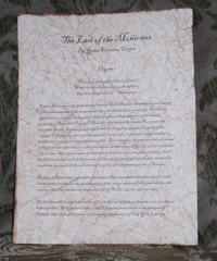 The Last of the Mohicans - Antiqued First Page - James Fenimore Cooper
