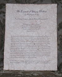 The Legend of Sleepy Hollow - Antiqued First Page - Washington Irving