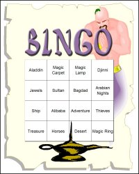 Aladdin Themed Bingo Set