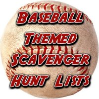 baseball themed scavenger hunt lists