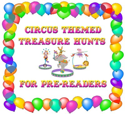 Circus Prereader Treasure Hunt