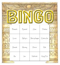 Ancient Egypt Themed Bingo Set