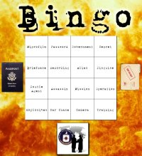 spy themed bingo