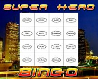 Superhero Bingo